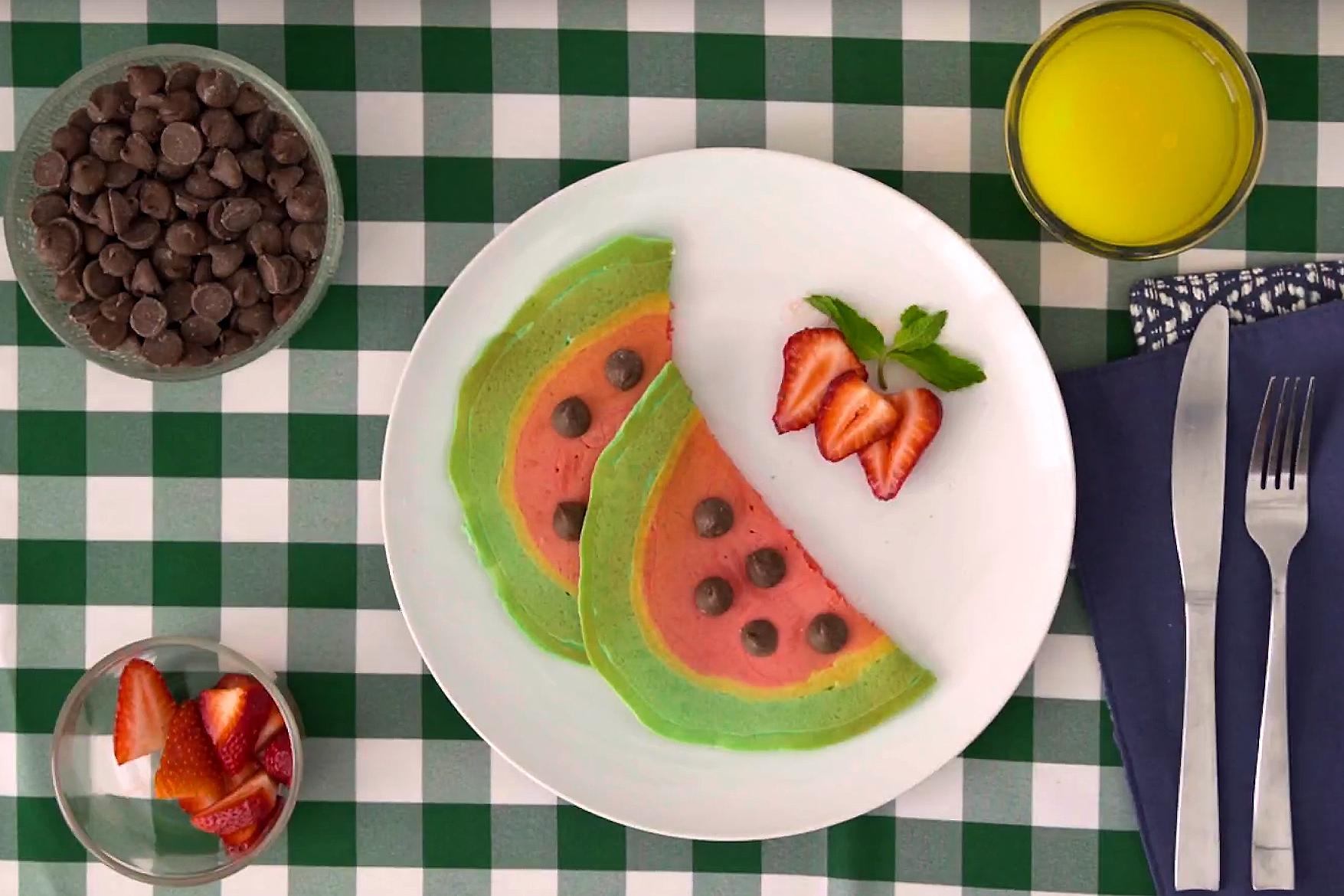Pancake-Art-Wassermelone